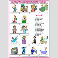 Daily Routines Esl Printable Worksheets And Exercises