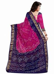 Vs Regular Size Chart Buy Pink And Blue Printed Cotton Silk Saree With Blouse Online