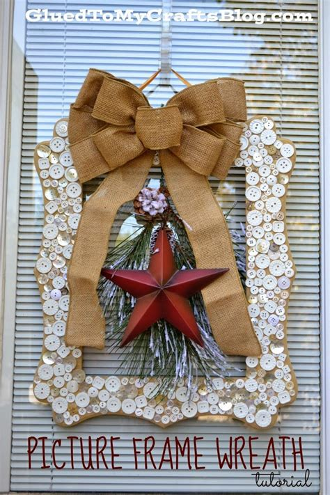 picture frame wreath craft