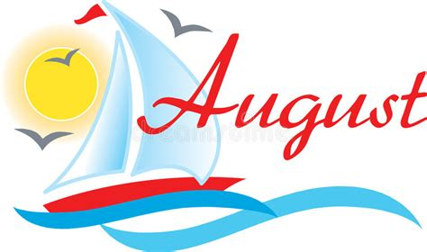 August Sailboat stock illustration. Illustration of ocean ...