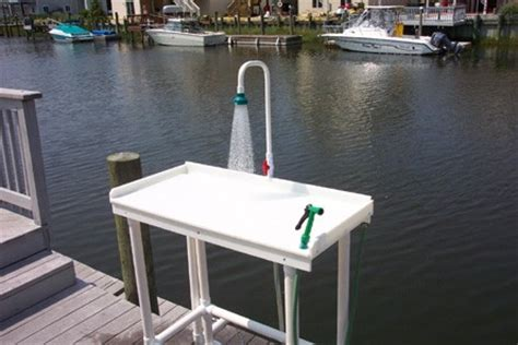 fish cleaning station with sink for dock charleston dock building accessories