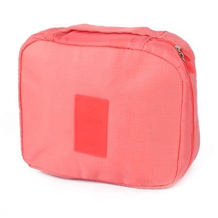 travel toiletry cosmetic makeup multi storage pouch wash hanging bag coral pink walmart com