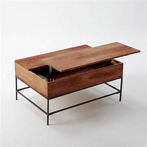 lift top teak wooden coffee table with storage using four With dark wood coffee table with storage