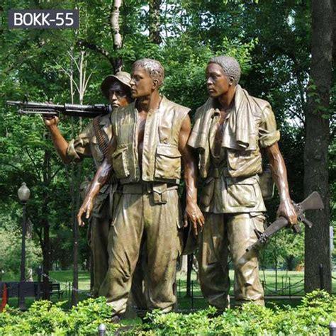 life size bronze satue   soldiers vietnam veterans