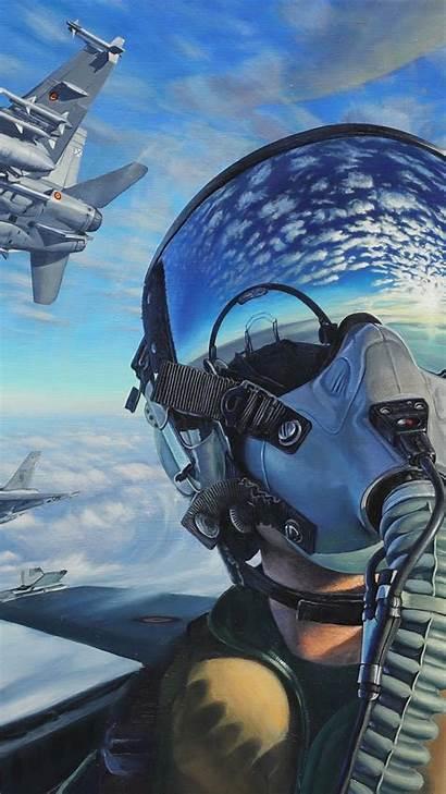 Pilot Fighter 4k Aircraft Artwork Jet Wallpapers
