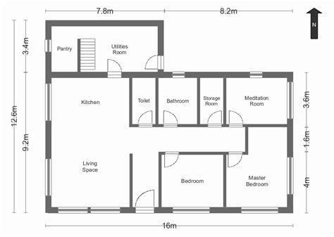 housing blueprints simple house plan with measurements pixshark com