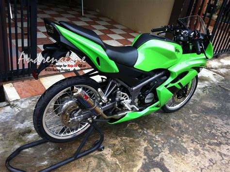 Modification 150 Rr by Kawasaki 150 Rr Dua Tak Modifikasi Motorblitz