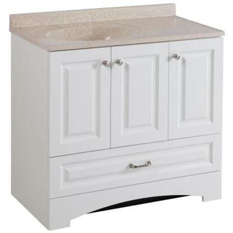 Glacier Bay Bath Vanity Tops glacier bay lancaster 36 in vanity in white with