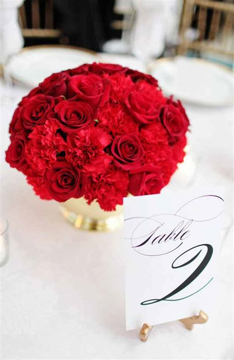 wedding wednesday red inspiration flirty fleurs