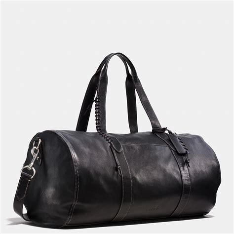 lyst coach rip  repair large gym bag  sport calf leather  black  men