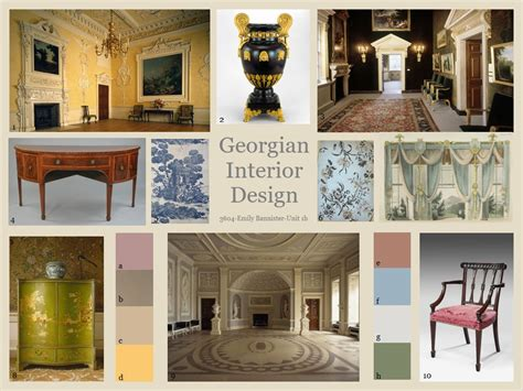 georgian era interior design presentation board nda blog