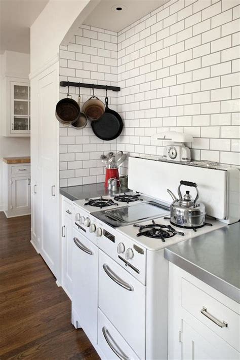 white subway tile  dark grout design ideas