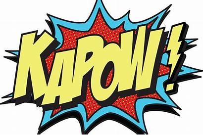 Kapow Bubble Explosion Vector Pow Comic Super