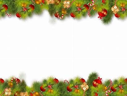 Border Transparent Christmas Borders Background December Clipart