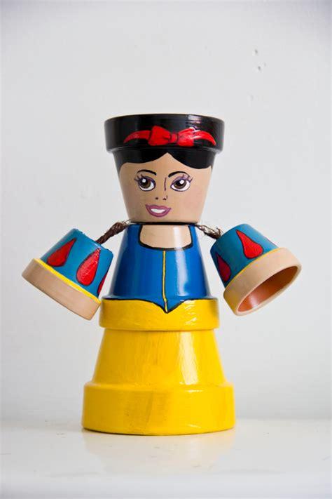 disney princess flower pot by schumart on etsy