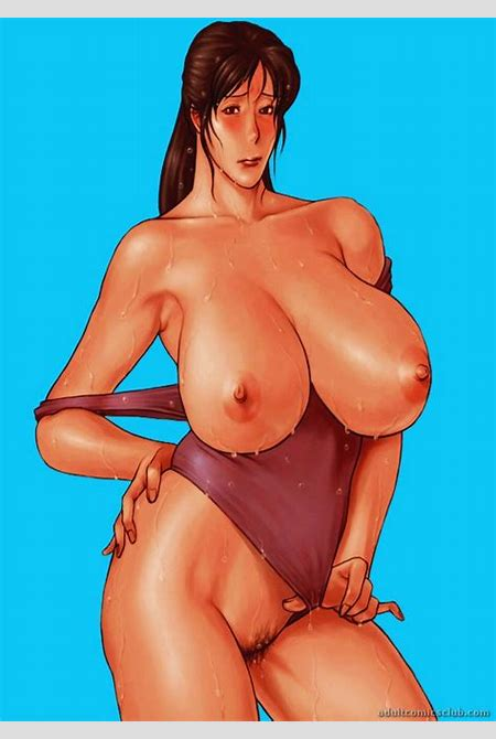 Brunette pinup with very big melons naked in various poses - CartoonTube.XXX