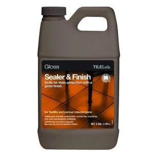 tilelab grout and tile sealer spray custom building products tilelab 1 2 gal gloss sealer and