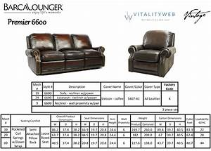 barcalounger premier ii leather 2 seat loveseat sofa With reclining sectional sofa dimensions