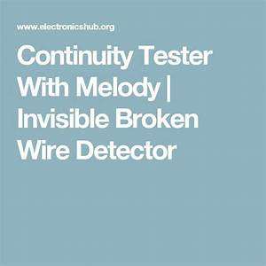 Continuity Tester With Melody