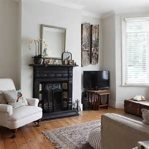 neutral living room with traditional fireplace decorating housetohome co uk