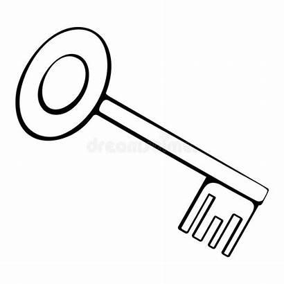 Key Outline Clipart Vector Clip Door Clipground