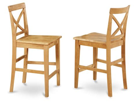 set   bar stools kitchen counter height chairs  wood