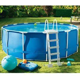 Piscine Intex Castorama : piscine intex ronde tubulaire piscine tubulaire intex grise idea mc ~ Voncanada.com Idées de Décoration