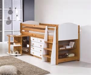 White Bookcase Uk by Aurora Pine Mid Sleeper Bunk Bed
