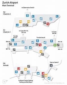Zrh  Zurich Airport Terminal Map
