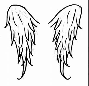 Simple Angel Wing Drawing   www.imgkid.com - The Image Kid ...