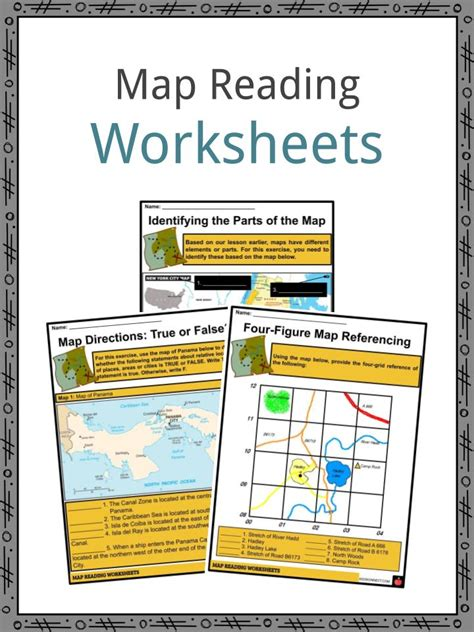 map reading facts worksheets elelments   map  kids