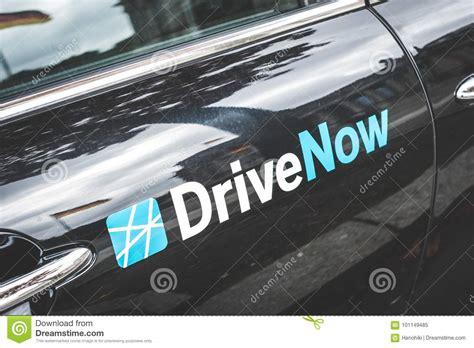 drivenow logo   car door  berlin editorial image