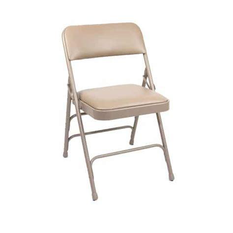 am vfc beige vinyl padded metal folding chair the