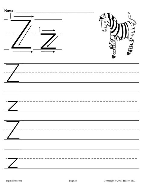 printable letter  handwriting worksheet supplyme