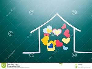 Casa Amore De : amore della famiglia e forma variopinta del cuore illustrazione di stock immagine 29969924 ~ Eleganceandgraceweddings.com Haus und Dekorationen