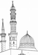 Madina Clipart Prophet Islamic Islam Mosque Sketches Re Masjid Drawing Coloring Sketch Drawings Smile Pattern Animation Paintings Sanatı Islami Seramik sketch template