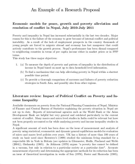 research proposal examples samples