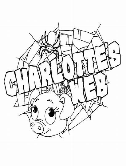 Web Coloring Pages Charlotte Charlottes Worksheets Printable