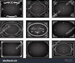 Set Old Silent Movie Title Frames Stock Vector 264900455