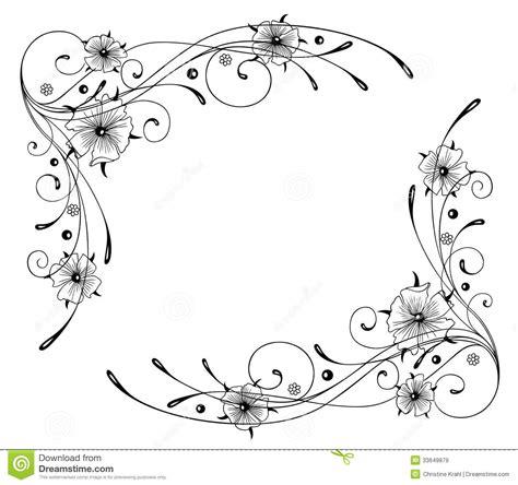 Kleurplaat Randen by Oostindische Kers Bloemen Kader Vector Illustratie