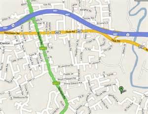Denton Manchester Map