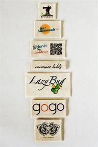 Natural fabric labels custom clothing tags sewing and for Fabric logo labels