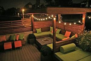 Solar Gazebo Lights Deck With Trellis And Seating Google Search Patio