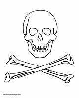 Skull Coloring Crossbones Pages Colouring sketch template