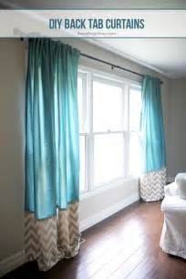 Tie Up Shade Curtain by Diy Back Tab Curtains I Heart Nap Time
