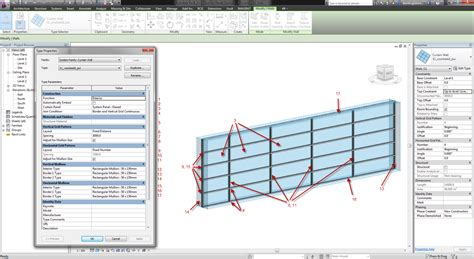235 l and autodesk aec software revit curtain wall magic