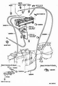 1988 Toyota 4runner Clamp  Wiring Harnes  Air
