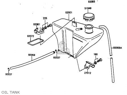 Fram G7 Fuel Filter by Kawasaki 1986 G7 Kh100 Parts List Partsmanual Partsfiche
