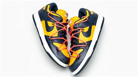 Off-White x Nike Dunk Low University Gold | Where To Buy ...
