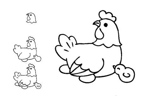 drawn farm animals childrens drawing pencil   color